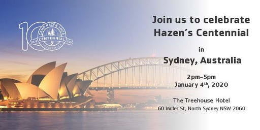 Hazen's Centennial - Sydney, Australia