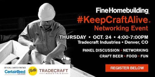 #KeepCraftAlive Networking Event