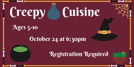 Creepy Cuisine (Ages 5-10) tickets
