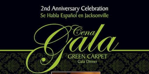 Cena Gala Alfombra Verde