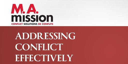 ACE/TEC: Addressing Conflict Effectively/Traitement Efficace du Conflit