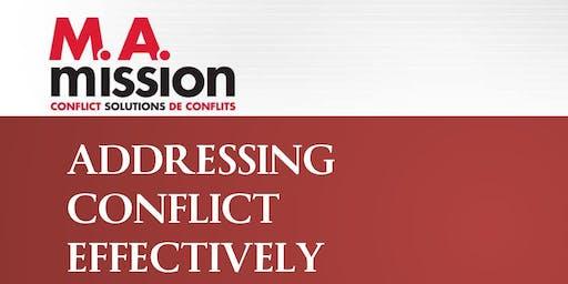 ACE/TEC: Addressing Conflict Effectively/Traitement Efficace du Conflit