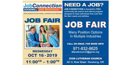 Job Fair - Newberg - 10/16/19
