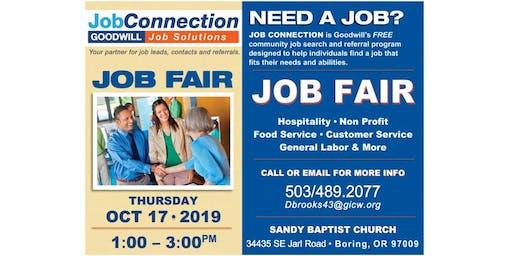 Job Fair - Sandy - 10/17/19