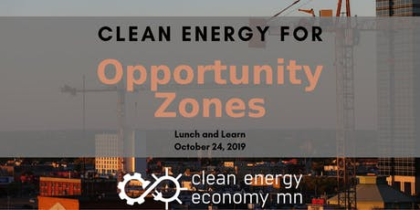 Clean Energy for Opportunity Zones tickets
