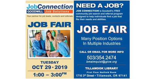 Job Fair - Tillamook - 10/29/19