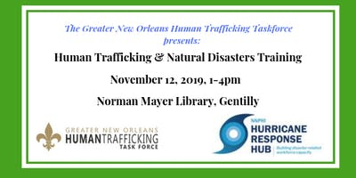 Human Trafficking & Natural Disasters Training