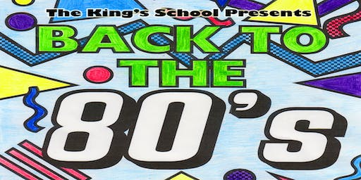 Back to the 80's! Tuesday 15th October 2019