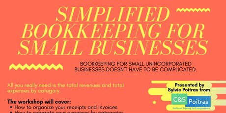 Simplified Bookkeeping for Small Businesses tickets