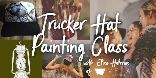 Trucker Hat Painting Class: NIGHT 2
