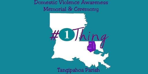 Tangipahoa Parish Domestic Violence Awareness Ceremony