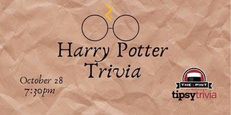 Harry Potter Trivia - Oct 28, 7:30pm - The Pint Downtown tickets