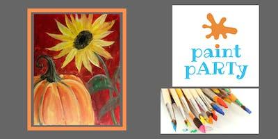 Paint'N'Sip Canvas - Pumpkin Sunflower - $35pp