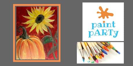 Paint'N'Sip Canvas - Pumpkin Sunflower - $35pp tickets