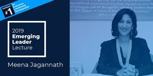 The Emerging Leader Lecture: Meena Jagannath