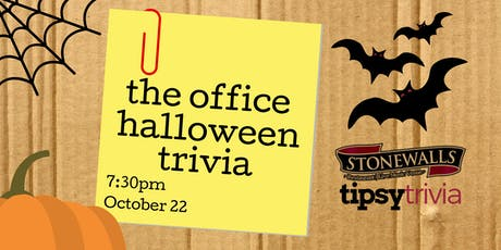 The Office Halloween Trivia - Oct 22, 7:30pm - Stonewall's Hamilton tickets