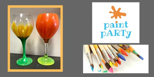 All Ages Paint Party on Glasses - Pumpkin / Sunflower - $35pp