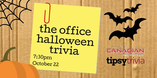 The Office Halloween Trivia - Oct 22, 7:30pm - The CBH Kelowna
