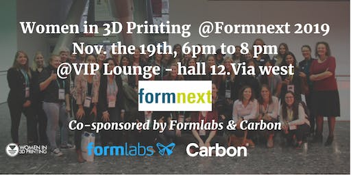 Women in 3D Printing Gathering @Formnext 2019