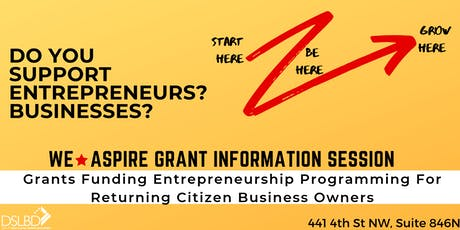 WeAspire Grant Information Session tickets