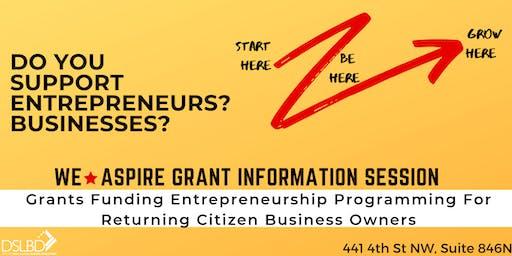 WeAspire Grant Information Session