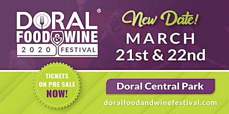 Doral Food and Wine Festival 2020 tickets