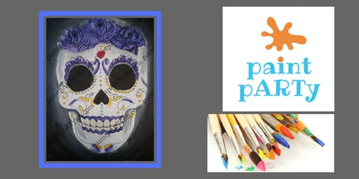 Paint'N'Sip Canvas - Sugar Skull - $35pp