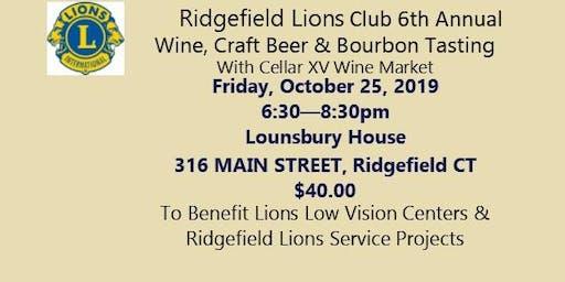 Ridgefield Lions Club  2019 Wine/Craft Beer/Bourbon Tasting Fundraiser