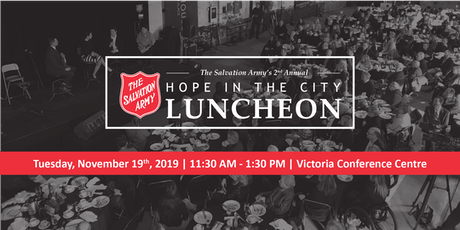 2019 Hope in the City Luncheon - Victoria tickets