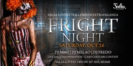 "Salsa Lovers' Halloween Extravaganza ""FRIGHT NIGHT"" tickets"