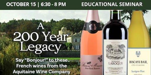 Educational Seminar: Bonjour! French Wines