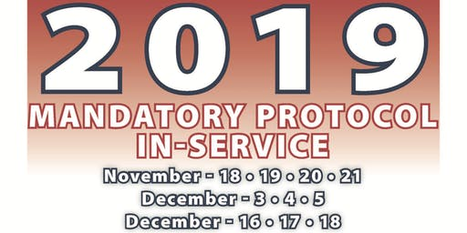 2019 Mandatory Protocol Paramedic In-Service