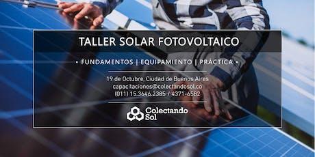 Taller Solar Fotovoltaico CABA //Octubre 2019 entradas