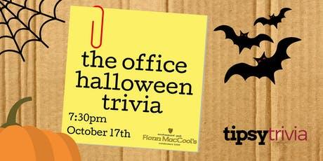 The Office Halloween Trivia - Oct 17, 7:30pm - Fionn MacCool's Mississauga tickets