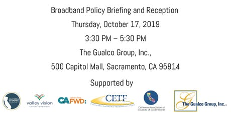 Broadband Policy Briefing and Reception tickets