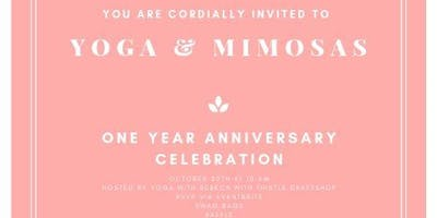 Yoga and Mimosas Anniversary Flow