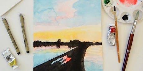Ink & Watercolor Landscape tickets