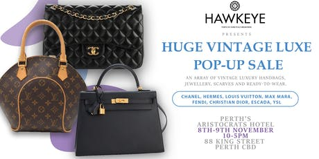 PERTH Vintage 2 day Luxury Handbag and Accessories sale! tickets