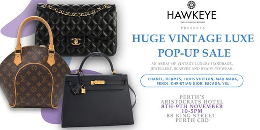 PERTH Vintage 2 day Luxury Handbag and Accessories sale!