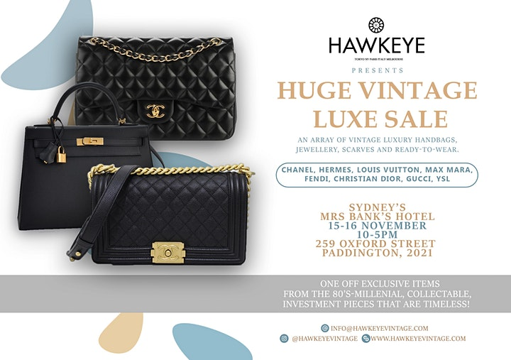 Sydney Vintage LUXE Handbags & Accessories 2 day sale 100% Authenticity image