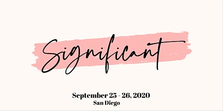 Significant Conference 2020 tickets