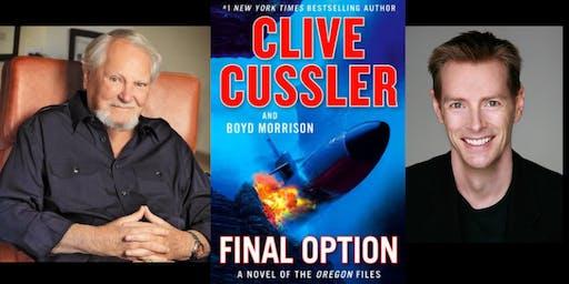 Clive Cussler and Boyd Morrison sign FINAL OPTION