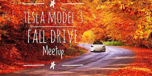 Tesla Model 3 Fall Drive Meetup