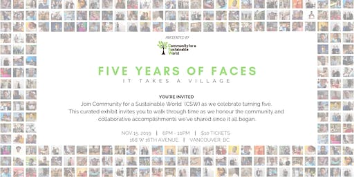 Five Years of Faces | Pop-up Art Gallery