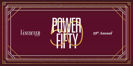 Vancouver Magazine's Power 50 2019 tickets