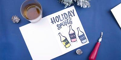 Holiday Card Block Printing