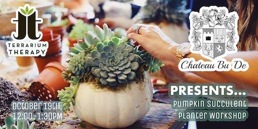 Pumpkin Succulent Centerpiece Workshop at Chateau Bu De Winery