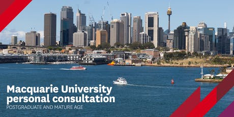 Macquarie University Personal Consultation for Postgraduate & Mature Age tickets