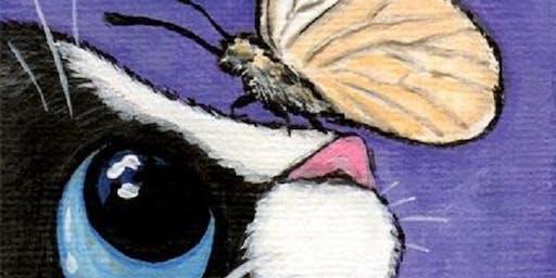 Kids Art Class - Cat & Butterfly (5-15 yrs)