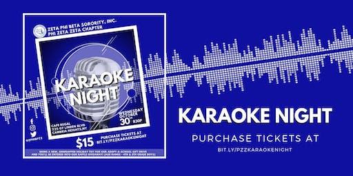 Phi Zeta Zeta Karaoke Night